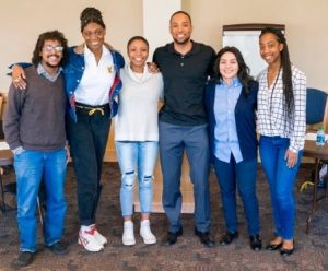 """Students present their research and experience on student activism during the """"Student Activism and the Academy"""" panel. 1st Annual Diversity Summit, 2016. Co-organized by Dr. C. Henne-Ochoa."""